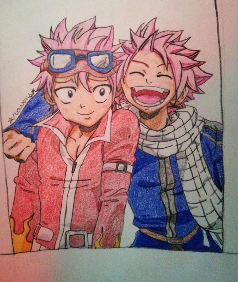 Natsu and... Natsu!? by blackravens4