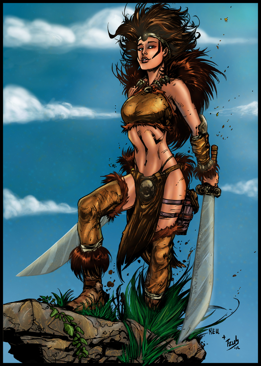 Keu Cha's Tyra pinup colors by tZuB