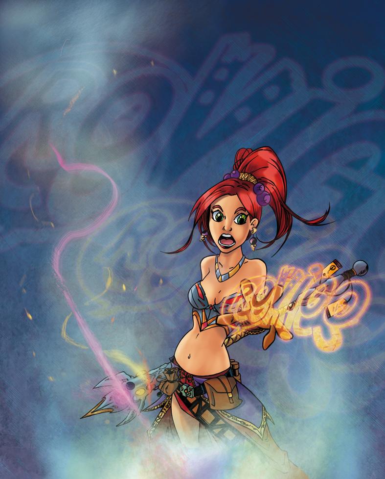 Fantasy girl - Rovigo Comics 2015 by tZuB