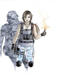 Copic Lara Croft Commando Sketch