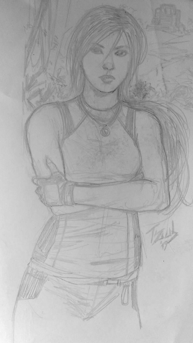 Lara Croft Useless Sketch edition