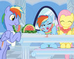Rainbow dash and fluttershy watermellons