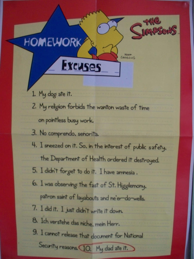 Top 10 reasons to do your homework