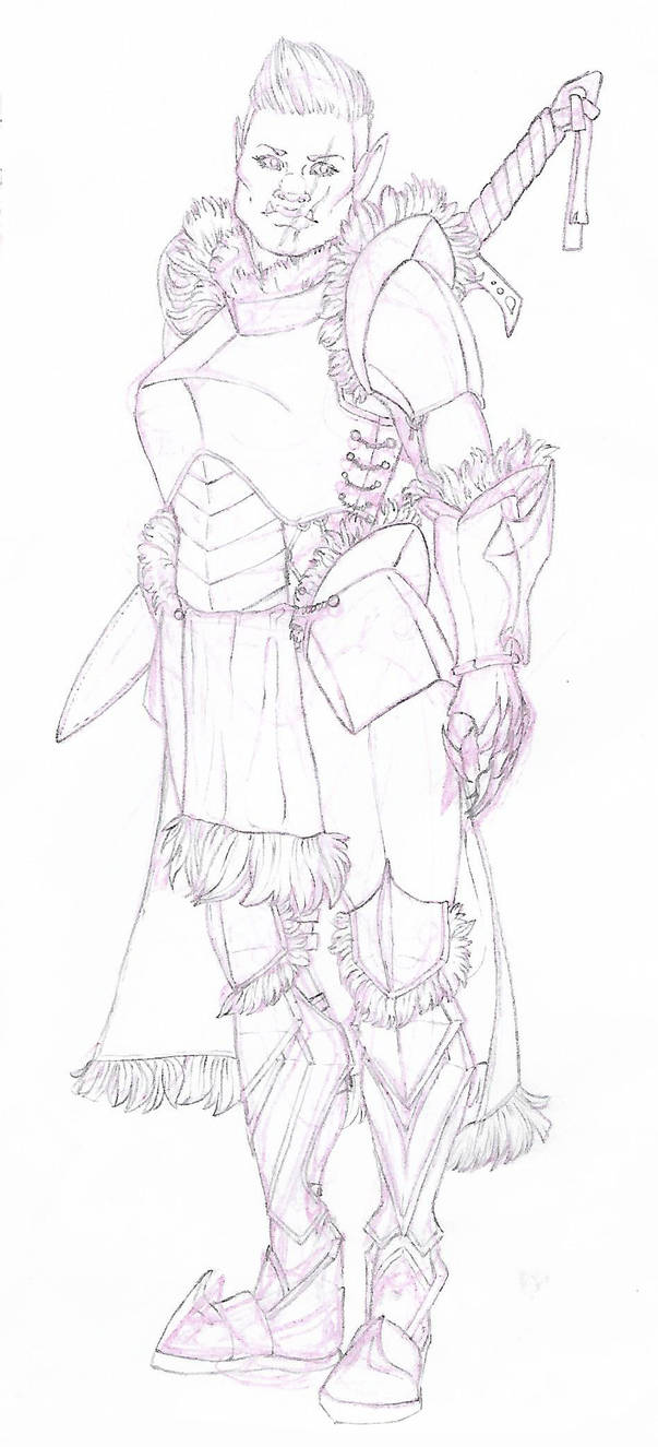 DnD Character - Half Orc Ranger, Karishra