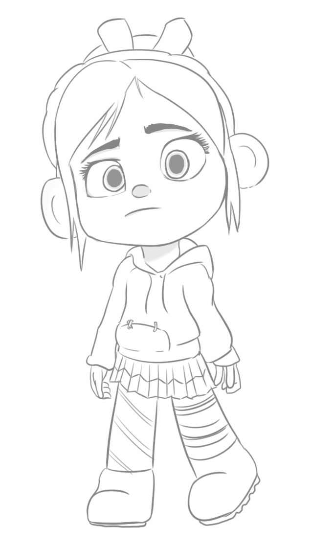 It's just an image of Gorgeous Vanellope Coloring Pages