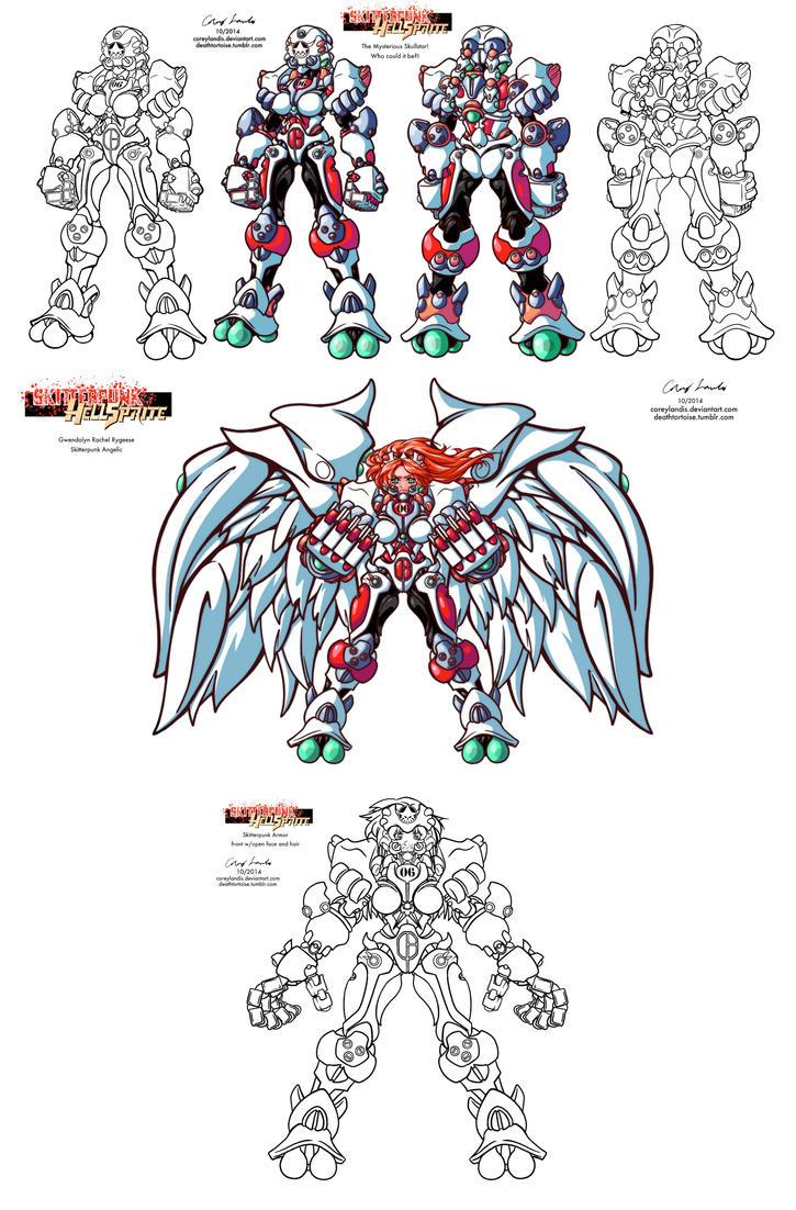 Mysterious Skullstar Skitterpunk Angelic 10 14 by coreylandis