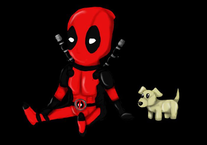 Chibi Deadpool by Kiba...