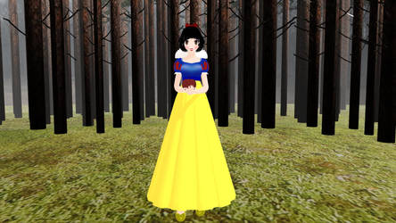 Mmd TDA Snow White by WaruiKashu