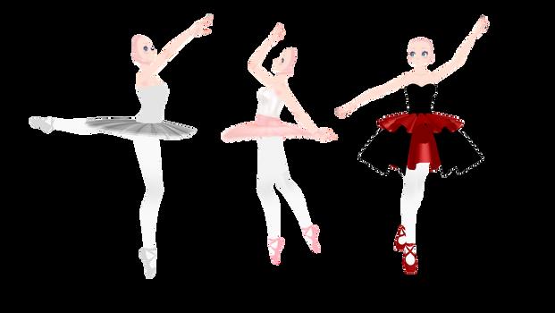 .:MMD TDA  Ballet bases:. by WaruiKashu