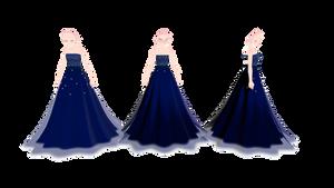 .:MMD Night sky dress dl:.