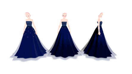 .:MMD Night sky dress dl:. by WaruiKashu