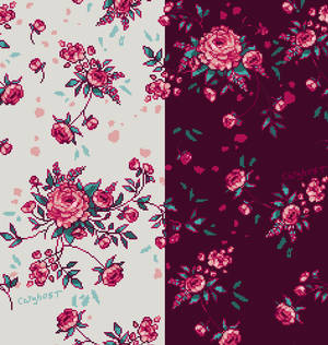 Floral-patterns in pink