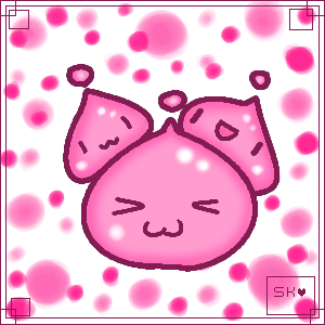 pink poring blobs by xShadowKitsunex