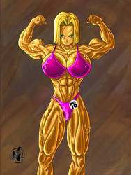 Android18 Bodybuilder Competition - FanartDraw by NadoArts