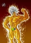 Goku bodybuilder- fanart by NadoArts