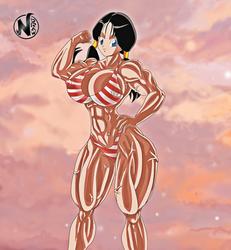 Videl Musclegirl-Fanart OPEN COMMISSIONS! by NadoArts