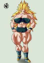 (CM) Caulifla Ssj3 Musclegirl by NadoArts