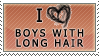 Boys with long hair - stamp by Kocurzyca
