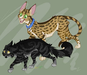 Darkstripe and Toby