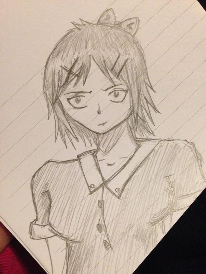 Anime Girl Practice by CrypticCharmander