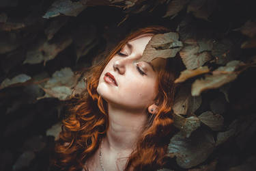Mary in leaves by Alivies