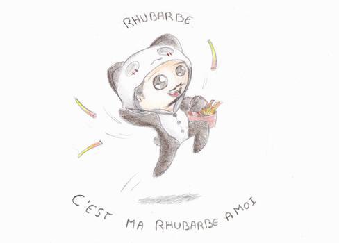 Maitre Panda aime la rhubarbe