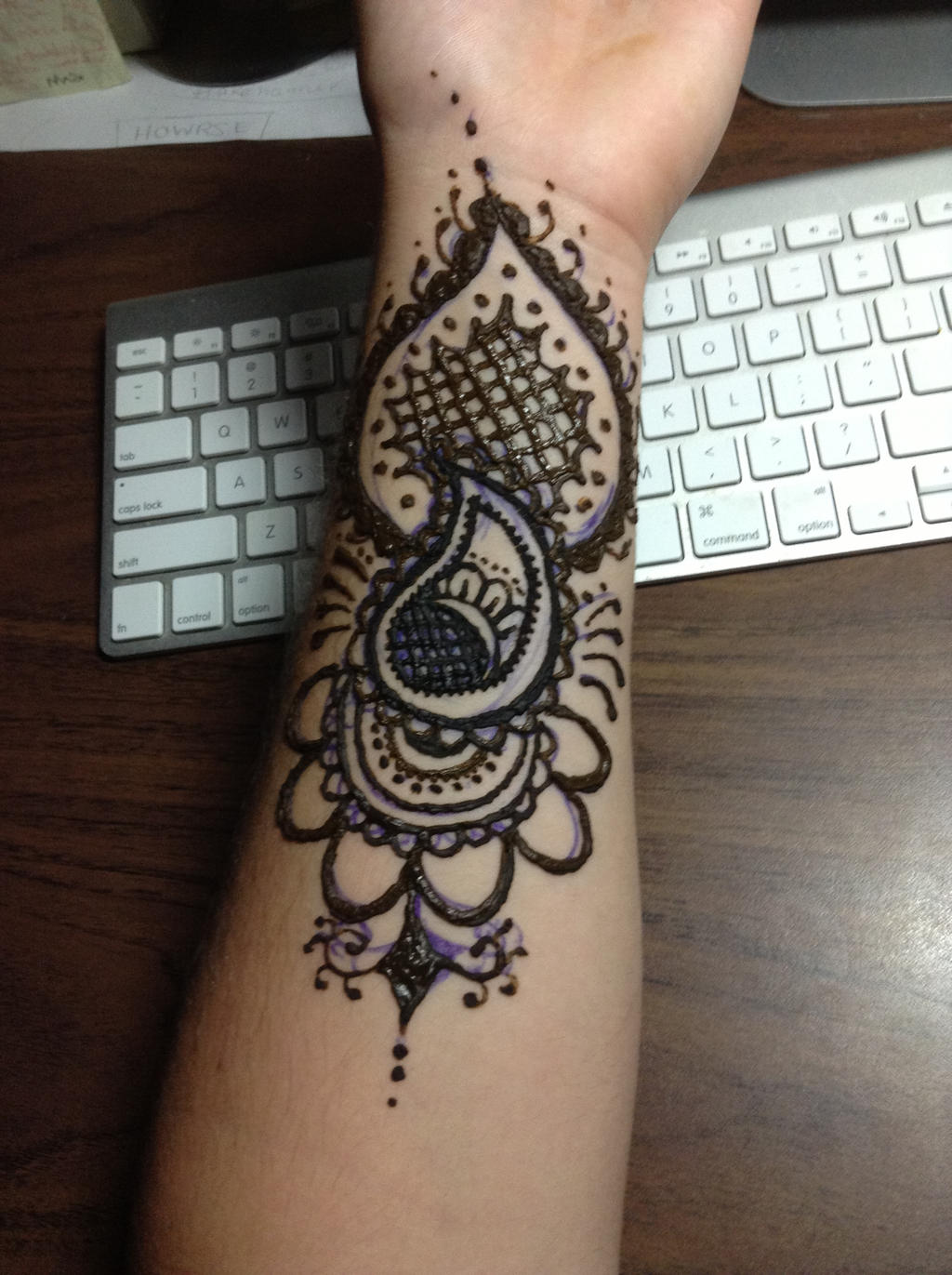 Henna Tattoo Arm : Henna arm tattoo by blackwaterpanther on deviantart