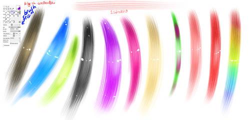 Realistic SAI Hair Brush by PokerDragon