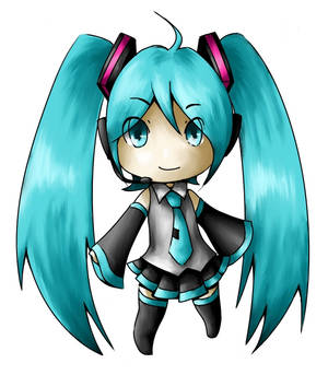 Miku Chibi Sticker Design