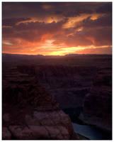 Horseshoe Bend Sunset HDR 2 by Karl-B