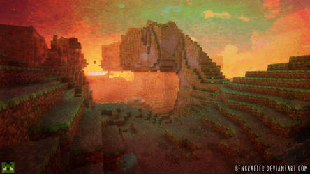 Minecraft - Sunset by bencrafter