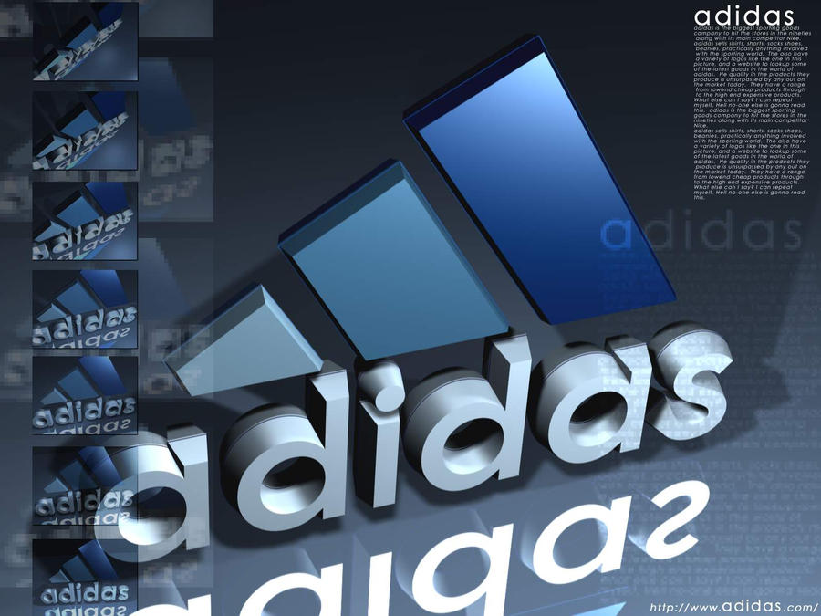 logos adidas en 3d