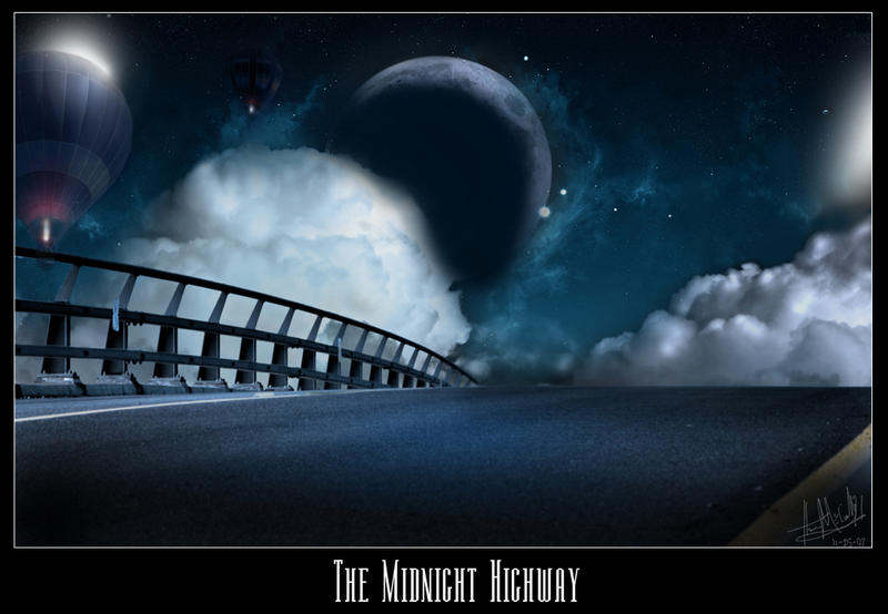 The Midnight Highway by imwalkingwithaghost
