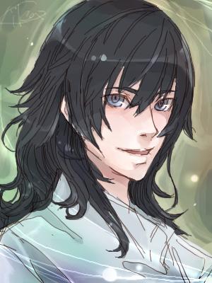 black and light blue hair. Blue Eyes Black Hair by ~cika