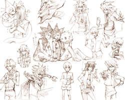 Yu-Gi-Oh Sketch Collection by cika