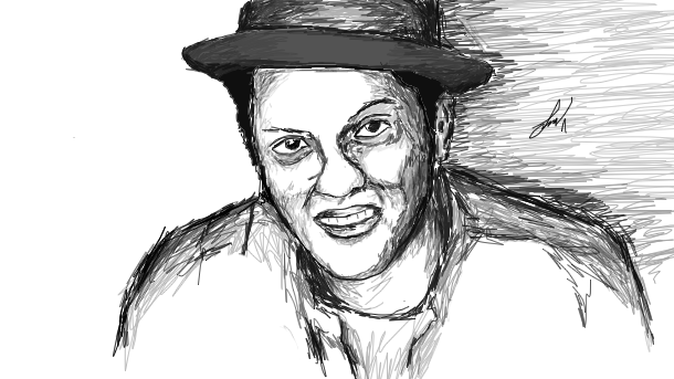 Bruno Mars Drawing By Snsz On DeviantArt