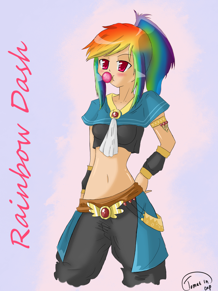 Humanized Rainbow Dash by Tomat-in-Cup