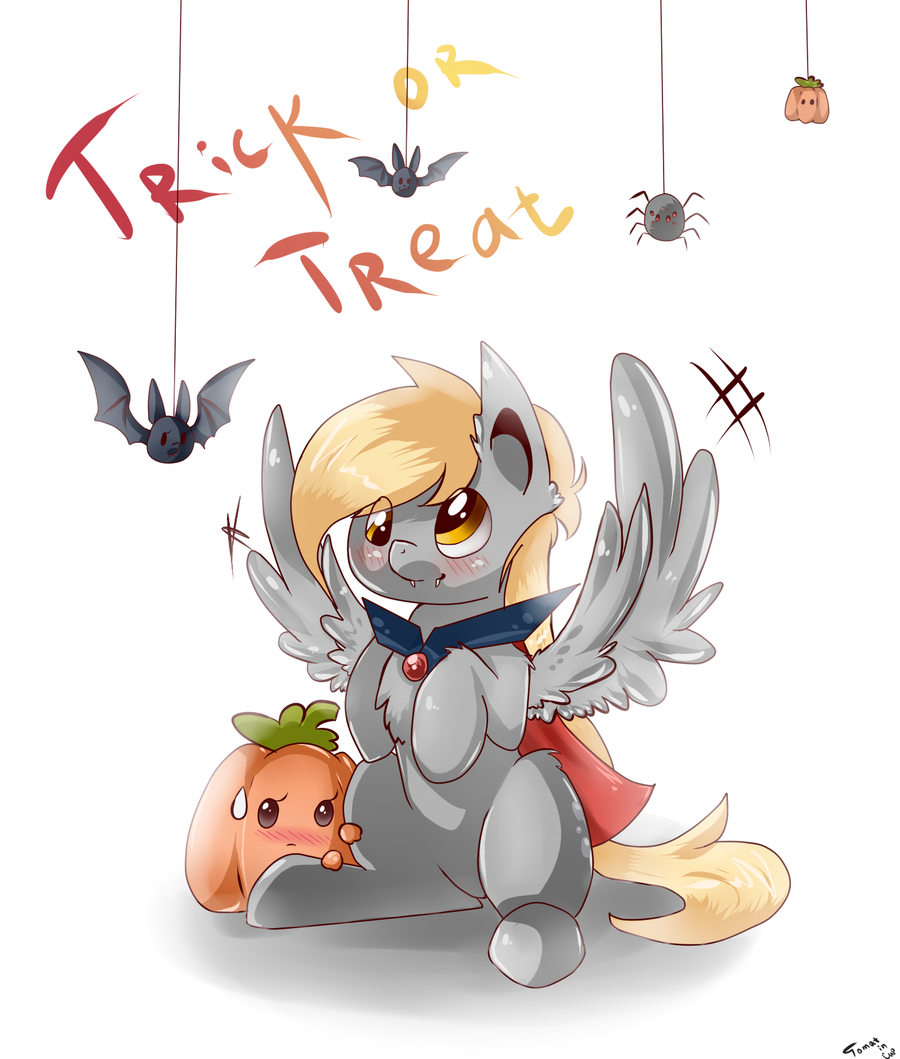 Trick or treat by Tomat-in-Cup
