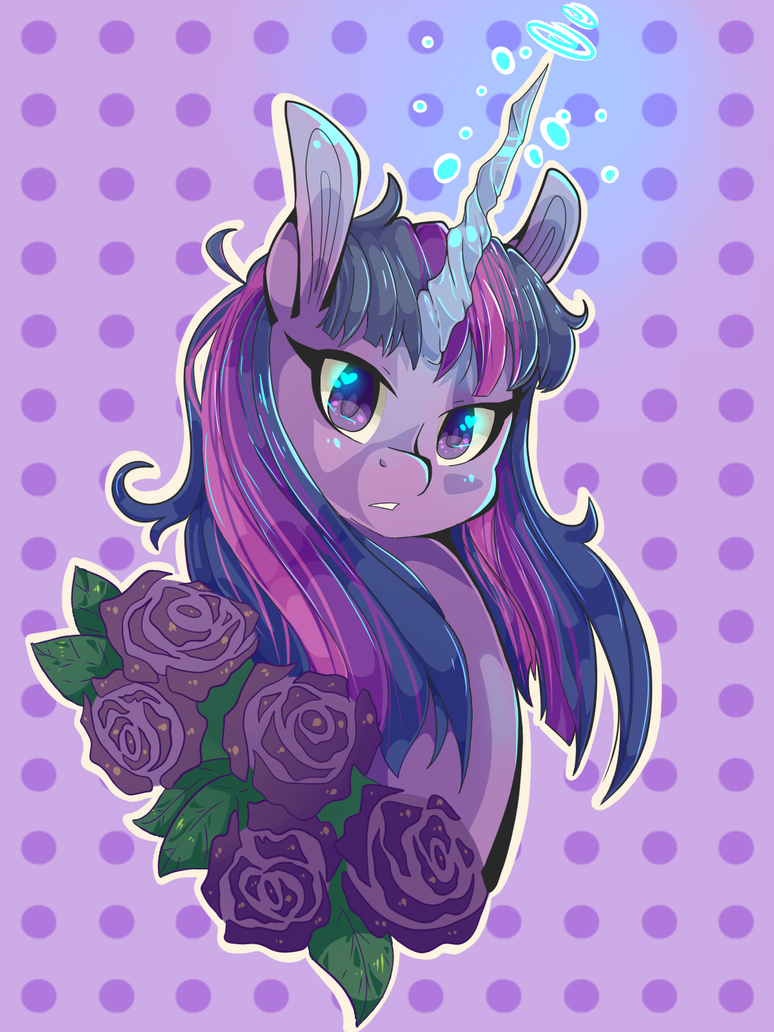 Portrait of Twilight Sparkle by Tomat-in-Cup