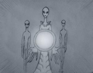 tall white alien