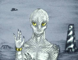 white reptilian traveler