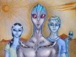alien with alien hybrids
