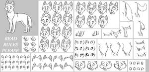 lineart pack 4 -wolf- *read rules*