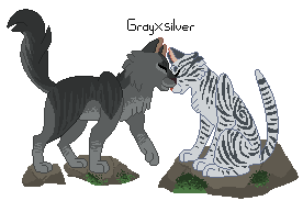 warriors couples GreyXSilver by Skelos-kath