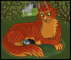 squirrelflight in the nursery by Skelos-kath