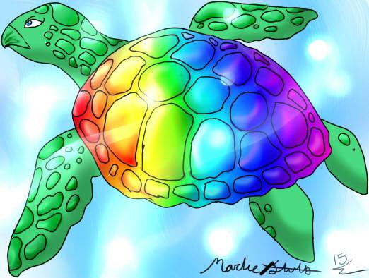 Rainbow turtle_wip by Catherine-Plante on DeviantArt