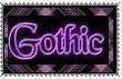 gothic stamp by morbidpumpkin