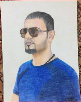 Drawing Iraqi man