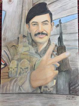 Drawing Iraqi soldier