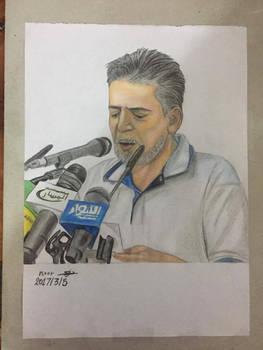 Drawing Iraqi poet